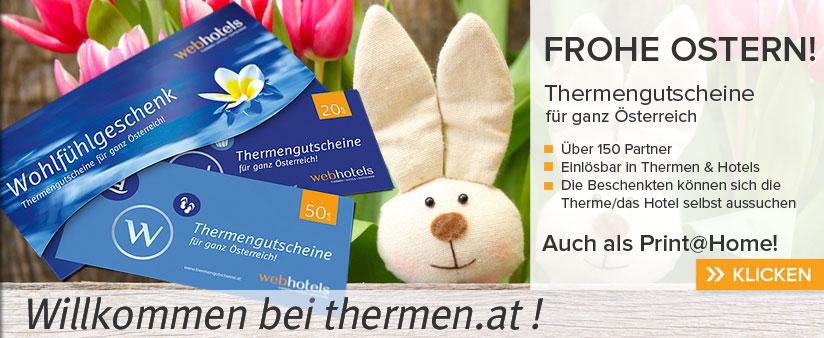 Thermengutscheine zu Ostern