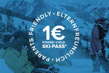 € 1,- Skipass für die Kleinen!