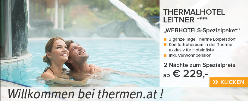 WEBHOTELS-Spezial in Loipersdorf